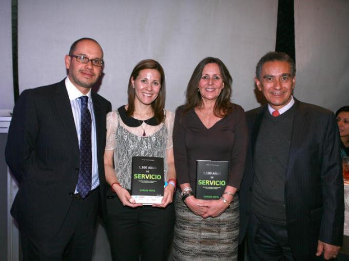 Francisco Galindo, Verónica Diez, Victoria González y Mario Maraboto