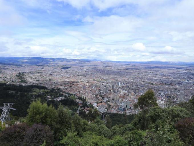 Vista de Bogotá desde el Cerro de Monserrate