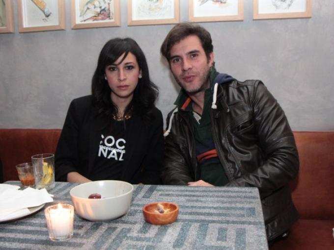 Barbara Terán con  Cesar Durione