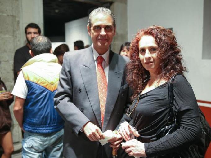 Jorge Garay con Lourdes Mendoza