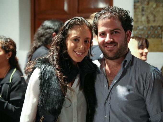 Karen Michán con Carlos Michán