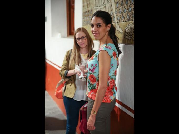 Karen Klin con Beatriz Jiménez