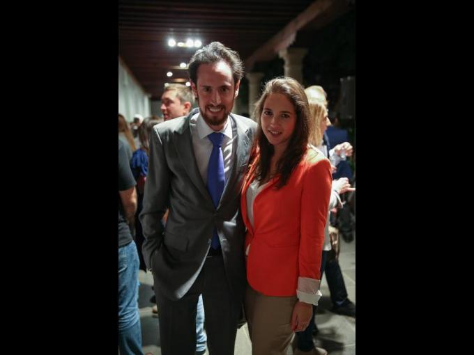 Daniel Cuevas con Paulina Gamboa