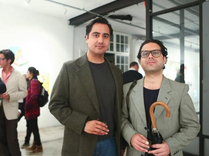 Carlos Pérez con Raúl Gasque