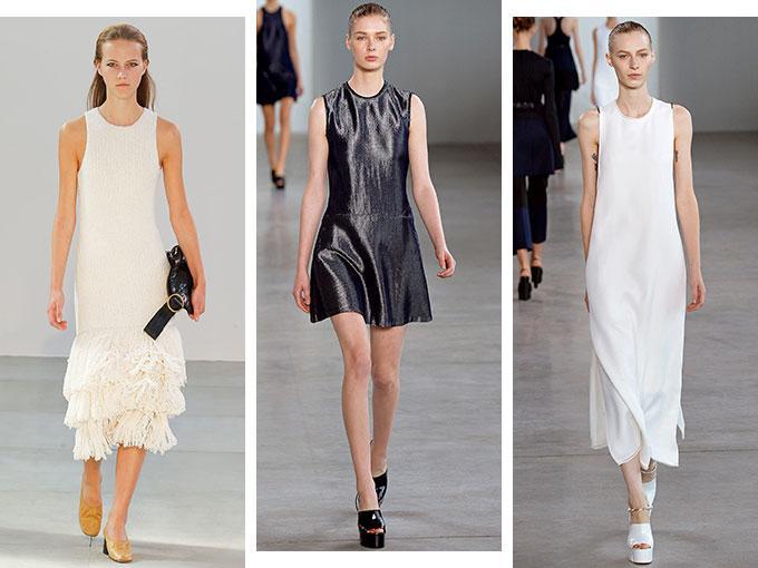 """Si todavía no te decides a usar las """"sandalias feas"""", no eres fan del grunge y el athleisure simplemente no es lo tuyo, los vestidos minimalistas son la prenda perfecta para añadir un toque noventero a tu look de verano."""