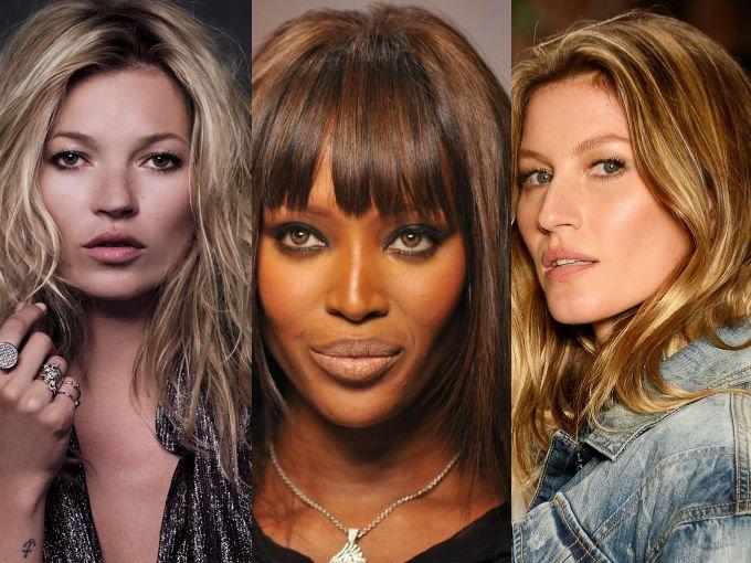 Gisele Bundchen, Heidi Klum y Kate Moss son algunas de las modelos que se convirtieron en millonarias