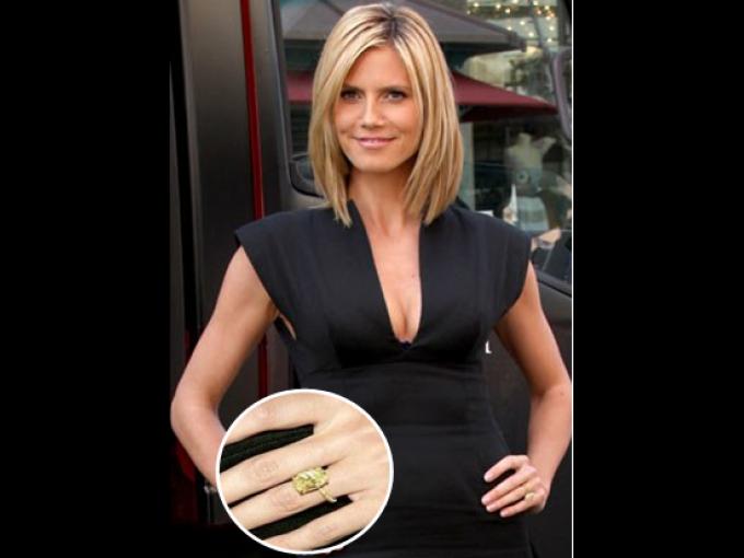 El ex-marido de la supermodelo Heidi Klum le entregó un anillo de 10 kilates, diseñado por Lorraine Schwarz, una de las favoritas entre las celebridades.