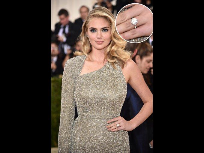 Después de 5 años de noviazgo, la modelo Kate Upton contraerá matrimonio con el jugador de béisbol Justin Verlander. Upton lució el anillo en la alfombra roja de la gala del Met.