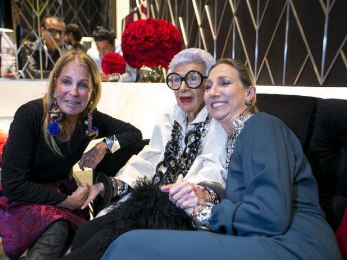 Barbara Berger, Iris Apfel y Silvie Legonie