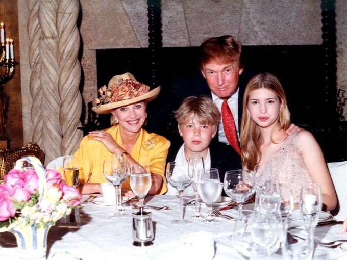 Ivana Trump, Eric Trump, Ivanka Trump y Donald Trump