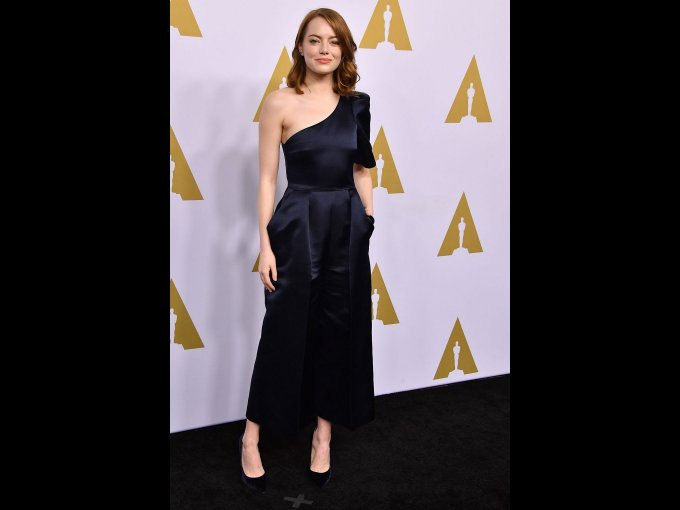 Emma Stone en Stella McCartney, Los Angeles