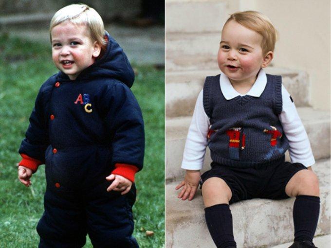 El príncipe George es sin duda una copia de su padre, el príncipe William, a las pruebas nos remitimos