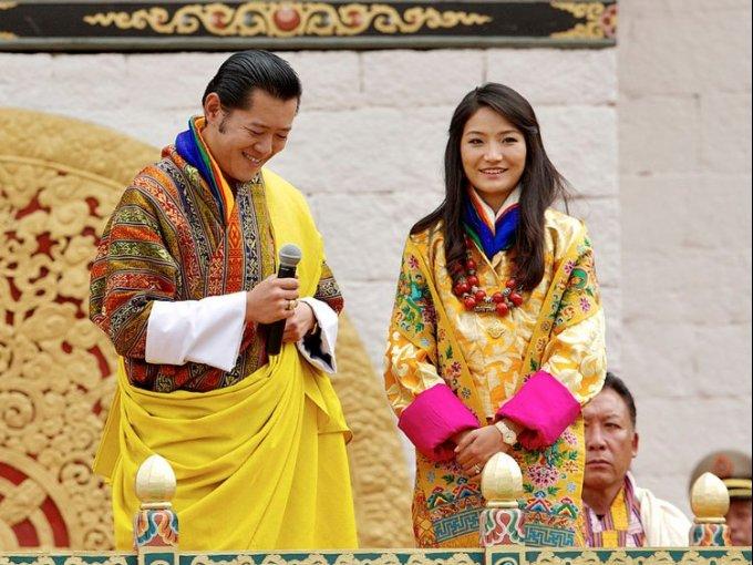 Jetsun Pema y el rey Jigme Khesar: el evento fue de tres días y ofreció un show de 7 horas para los asistentes