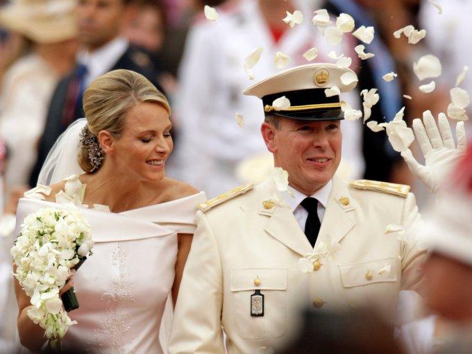 Charlene y el príncipe Alberto: Karl Lagerfeld, Naomi Campbell y Giorgio Armani fueron invitados