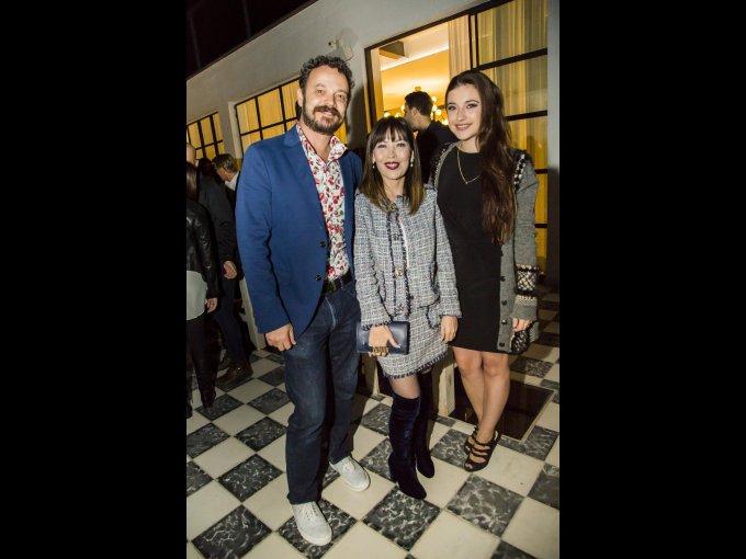 David Santos,Blanca Santos y Mariana Hernández
