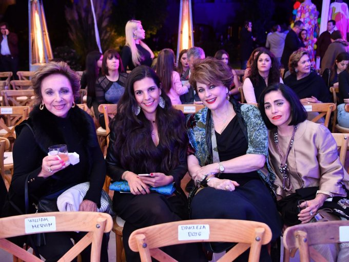 Pili Rebon, Mariana Austin, Carmen González Ibarra y María Camarena