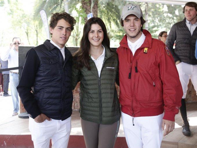 Yago Álvarez, Nicole Meyer y José Madariaga