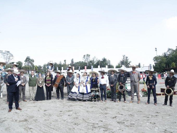 Los charros de México fueron parte del evento