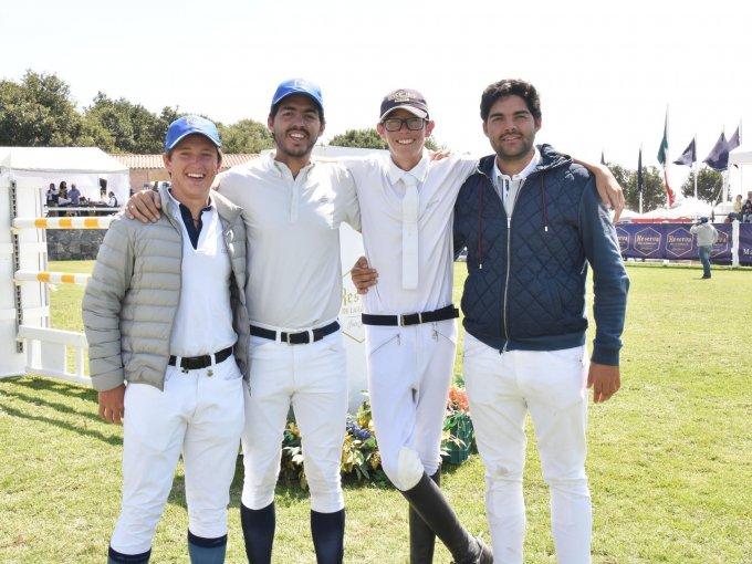 Juan José García, José Antonio Herrera, Roberto García y Pablo Herrera