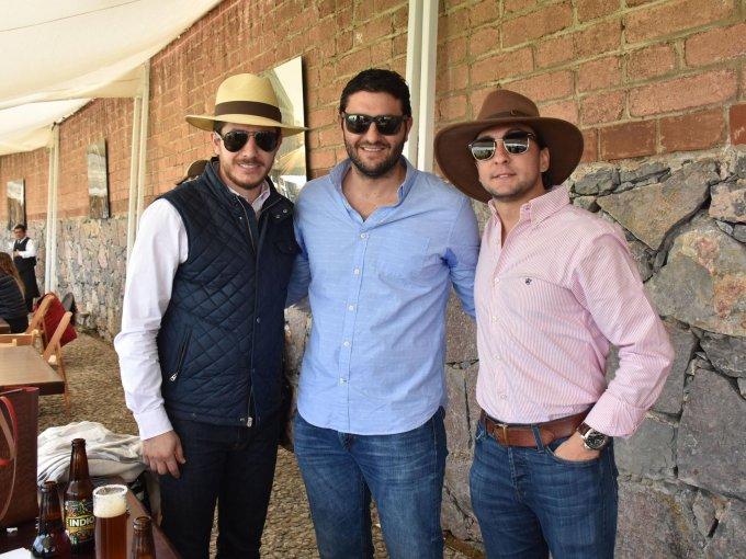 Jorge Rojas, Adrián Bordás y Gontran Haghenbeck