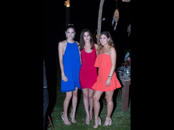 Daniela García, Andrea Fernández y Bárbara Sada
