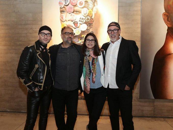 Víctor Rodríguez, Héctor Falcón, Natalie Gama y Santiago Espinosa de los Monteros