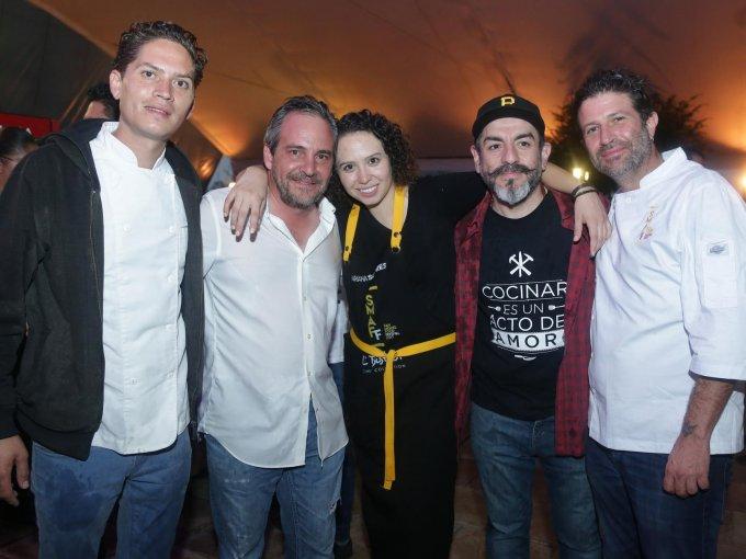 Sandor Rodríguez, Daniel Estebaranz, Mariana Sotres, Aquiles Chávez y Julián García