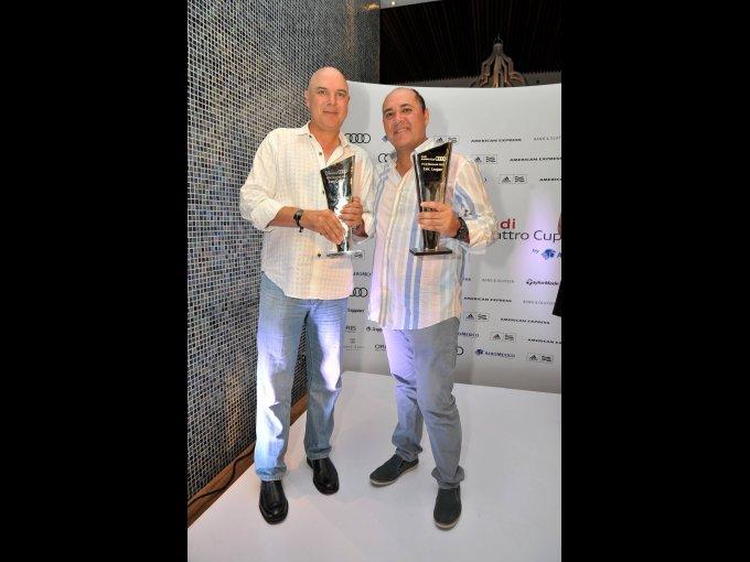 Francisco y  Arturo Villanueva ganaron el primer lugar