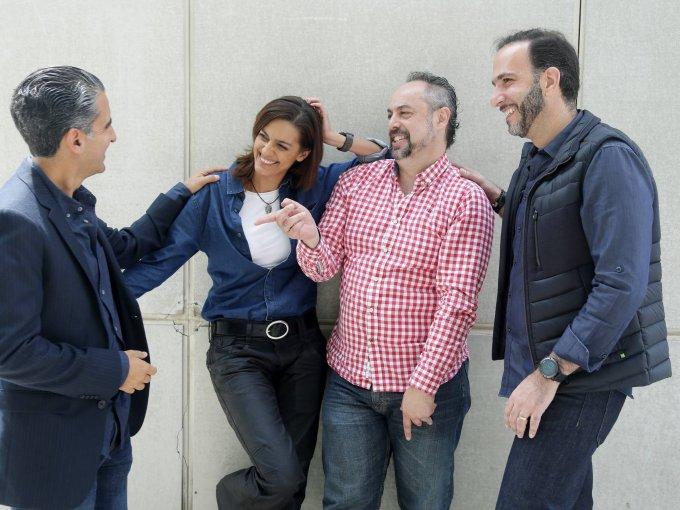 Bruno Galván, Martha Guerrero, Pedro Polanco y Gabriel Hamparzumian
