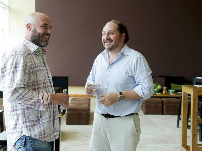 Alejandro Ordoñana y Alfonso Caso