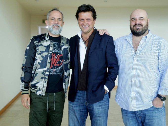 Arturo Navarro, José Antonio Fernández y Teco Lebrija