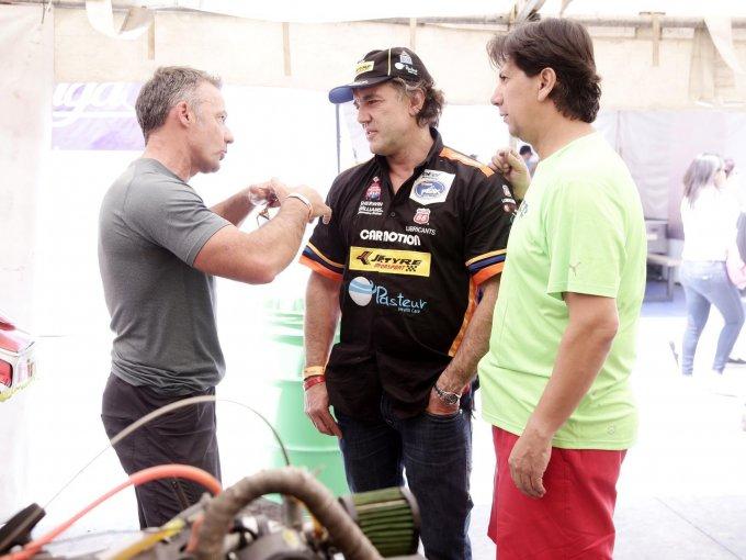 Rod MacLeod, Javier Fernández y Carlos Barajas