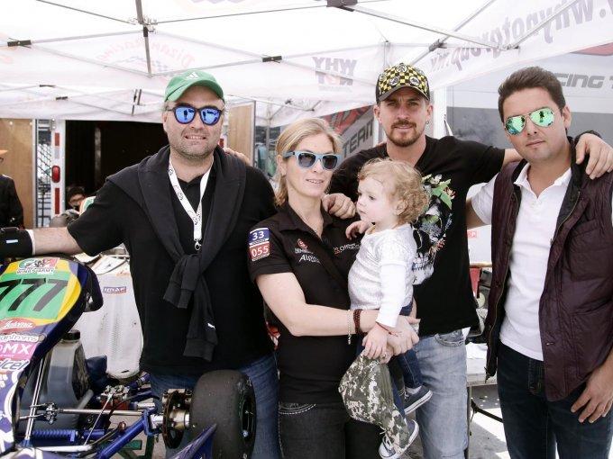 Eduardo Galicia, Carla Galicia, Lia Galicia, Jonathan Islas y Carlo Arellano