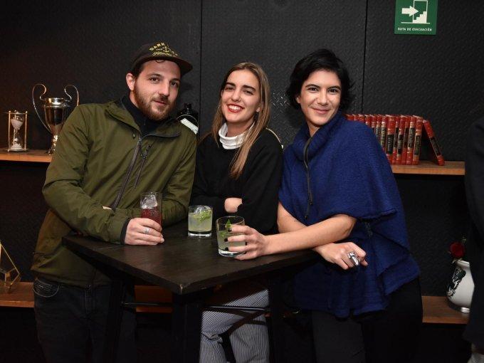 Matías Pedroza, Rocío Angulo y Romy Gutman