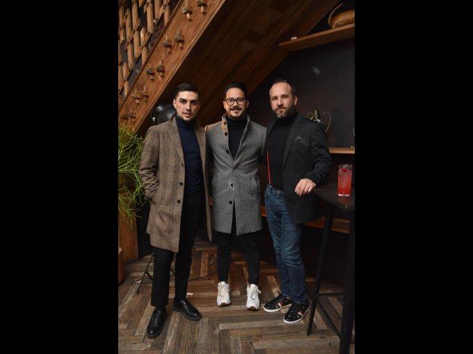 Fabián Rosales, Adrián Sampieri y Juan Pablo Campos