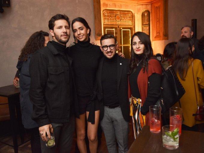 Rodrigo Roji, Paulina Álvarez, Anuar Layón y Pamela Orozco