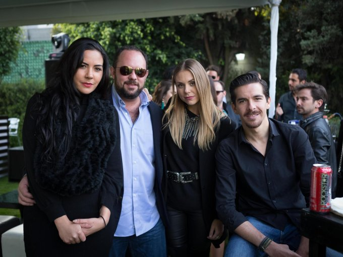 Eugenia de la Vega, Philippe Caire, Andrea Bou y Eduardo Azcué