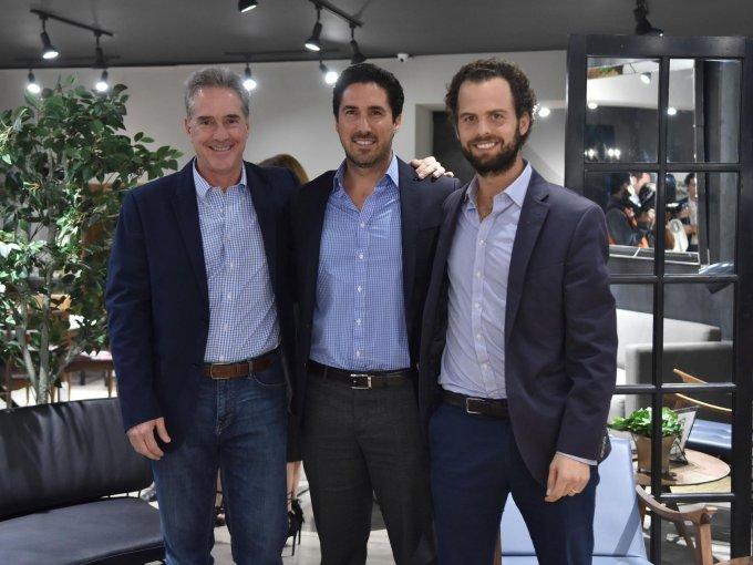 Alejandro Holschneider, Manuel Barrantes y Eduardo Gómez