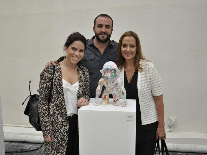 Itzia García, Iker Echeverría y Martha Amieva