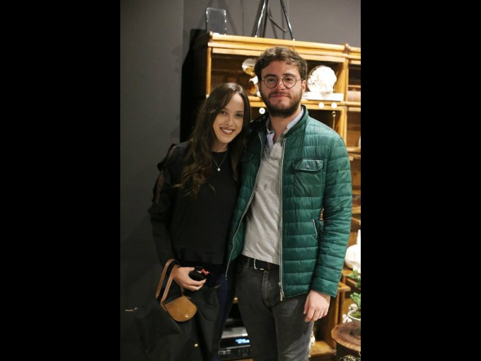Karen Franken con Martín Valdés
