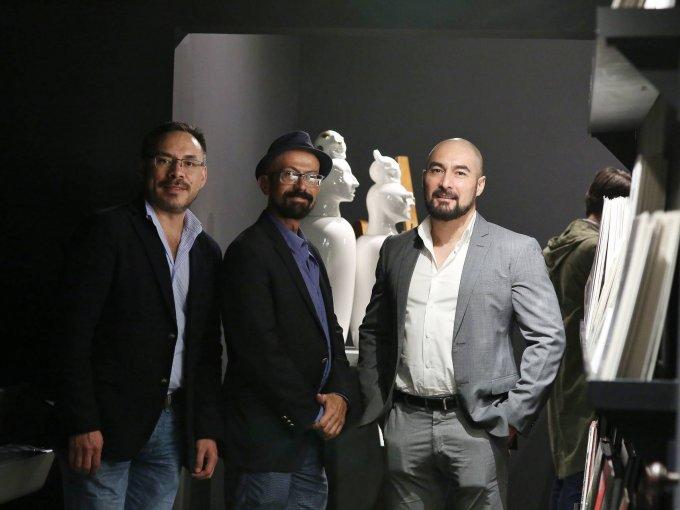 Emmanuel Razo, Óscar Román y Gerardo González