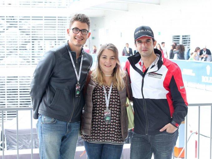 Héctor Campos, Andrea Covarrubias y Pablo Cervantes