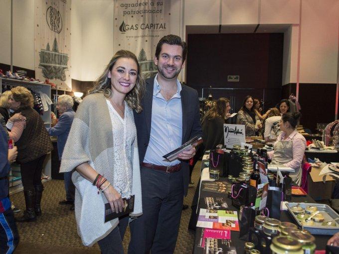 Andrea Rey con Pablo Luengo