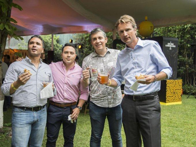 Bruno Díaz, Arturo Robles, Jaime Andreu y Dolf van den Brink