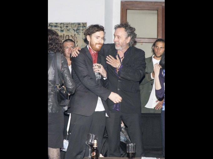 Diego González y Tim Burton