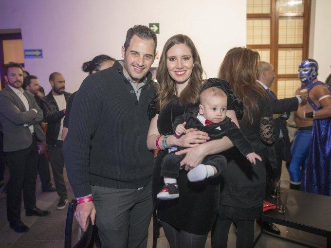 Juan Carlos Gruber, Regina González y Patricio Gruber