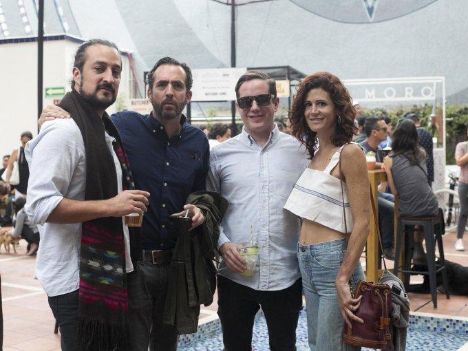 Álvaro Manzano, Santiago Lebrija, Andrés Lebrija y Galia Katz