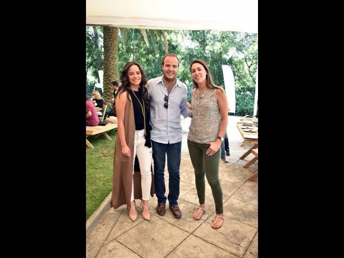 Carla Trejo, Rodrigo Moncada y Francesca de Haro