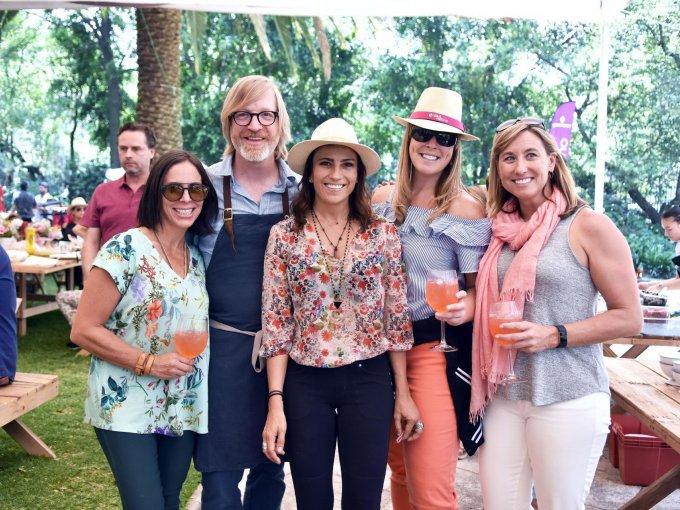 Sylvia Rivera, Chef Daniel Burns, Dinorah Climent, Jenny Viditz y Kristin Yantis