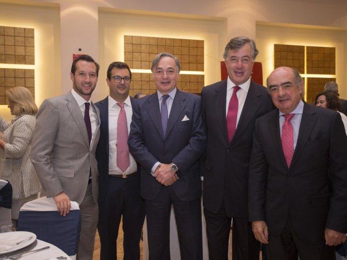 Felipe Chico y Pablo Chico con Eduardo Cepeda, Fernando Chico y Luis Téllez